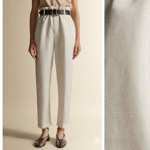 NWT. Massimo Dutti Ecru Trousers